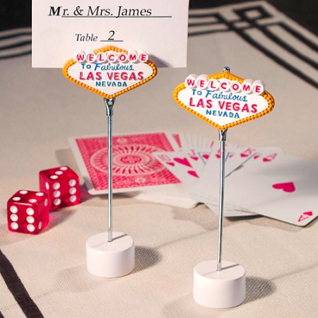 Las Vegas Themed Place Card Holder